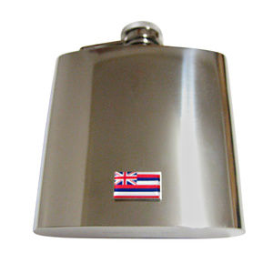 Hawaii State Flag Pendant 6oz Flask